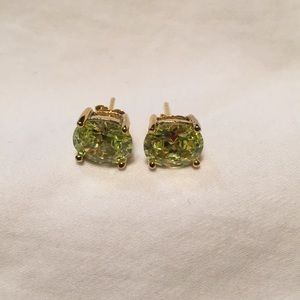 Jewelry - Amazing Sterling/Gold Wash Yellow CZ? Earrings